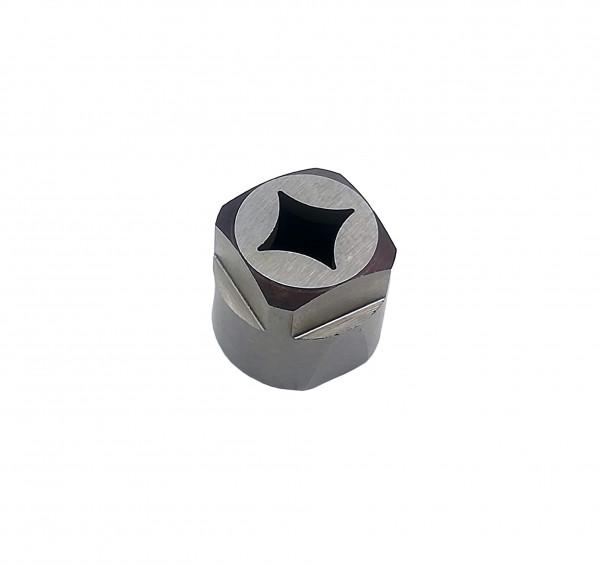 Eckenabrundungs-Büchse 9 x 9 mm